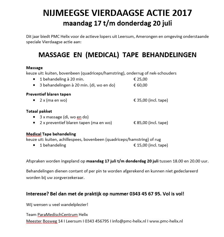 nijmeegse vierdaagse actie PMC Helix Leersum en Amerongen