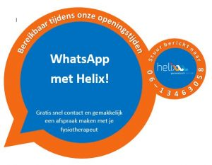 WhatsApp met je fysio!