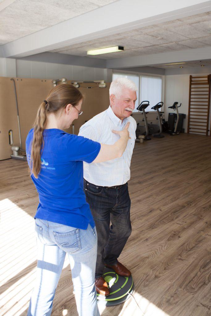 Fysiotherapie Leersum en Amerongen, utrechtse heuvelrug; fysiotherapeut in actie