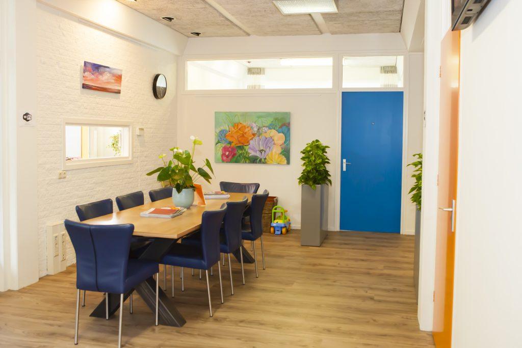 Wachtruimte fysiotherapiepraktijk Leersum en Amerongen op de Utrechtse Heuvelrug